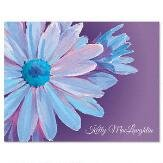 Floral Burst Personalized Note Cards (Set of 12 Cards with White Envelopes)