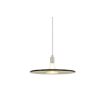 (Tech Lighting 700FJBIZNS, Biz Mini Low Volt Round Pendant, 1 Light Halogen, Nickel)