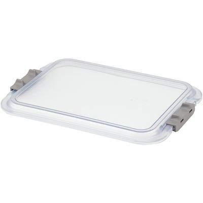 Safe-Lok B-Lok Flat Tray Cover 13 7/8 in x 9 7/8 in x 3/4 in Clear Plastic Each