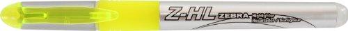 Zebra Z-HL 3-Chamber Liquid Ink Highlighter 12 Pack, Yellow (77050)