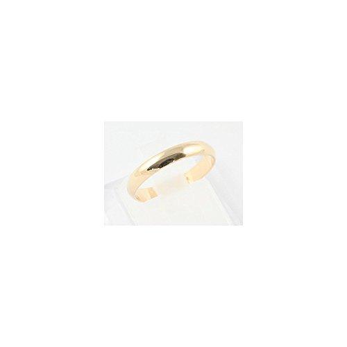 Bague alliance anneau simple en plaqué or 2 mm de large - 64