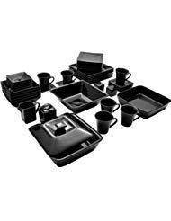 10 Strawberry Street Nova Square Banquet 45-Piece Dinnerware Set - Matte Set 45 Piece