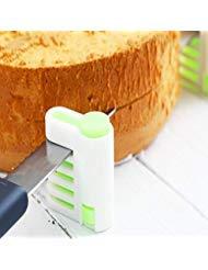 Cake Leveler, Kitchen Professional Five Adjustable Layers Cake Bread Cutter Leveler Slicer Cutting Fixator Tools (Leveler Helper Spring)