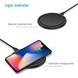Wireless Charger Charging Pad Qi Fast Charge Pocket Size for iPhone X iPhone 8/Pus Galaxy Note 8 Galaxy S8/S9 Plus Nokia...