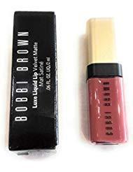(Bobbi Brown Luxe liquid lip velvet matte in Double Bare- mini)