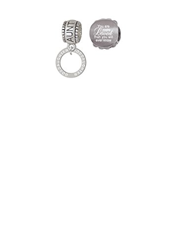 Goddaughter Eternity Ring Aunt Charm Bead with You Are More Loved Bead (Set of 2)