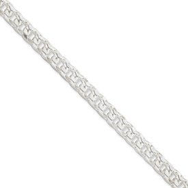 Sterling Silver 6.25mm Franco Chain Bracelet - 9 Inch - Lobster Claw