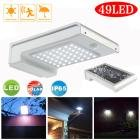 Dressffe 49 LED Solar Power Motion Sensor Outdoor Waterproof Garden Security Lamp Light
