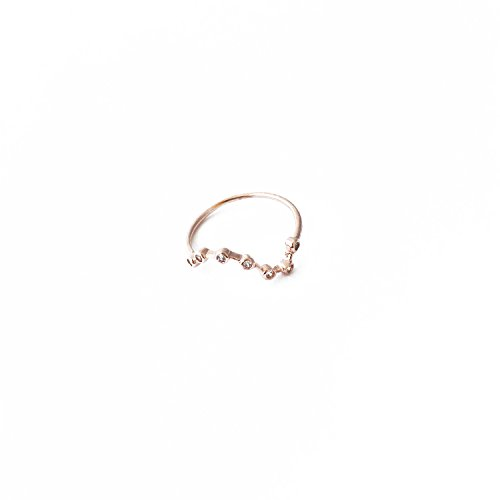 Best Costumes Jewelry Company (HONEYCAT 18k Rose Gold Plated Crystal Constellation Stars Ring | Minimalist, Delicate Jewelry (Rose Gold))
