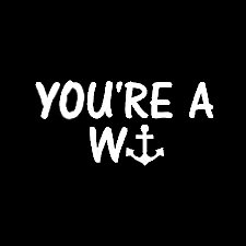 [You're A Wanker Funny Decal Vinyl Sticker|Cars Trucks Vans Walls Laptop| White |5.5 x 3 in|LLI365] (British Columbia Costumes)