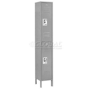 837KGY Ready to Assemble Single Tier & 3 Door Locker44; Gray - 15 x 18 x 72 in. (Nexel Door)