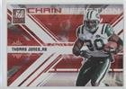 2009 Donruss Elite Chain - Thomas Jones #/199 (Football Card) 2009 Donruss Elite - Chain Reaction - Red #22