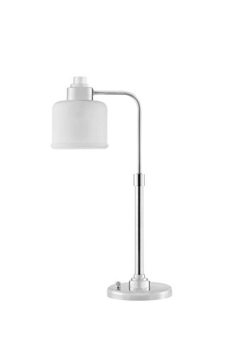 Catalina Lighting 20594-001 Transitional Desk Lamp with White Frost Glass Shade, Bulb Included 25