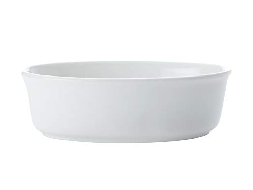 White Oval Pie Dish - Maxwell and Williams Basics Oval Pie Dish, 7-Inch, White