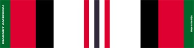 Afghanistan War Service Ribbon Bar Mini Magnet