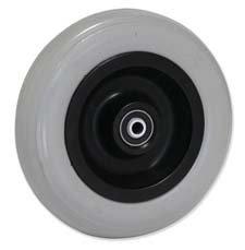 Gayner ppi - Rueda 200r3 rodillo plastico negro espuma poliuretano gris