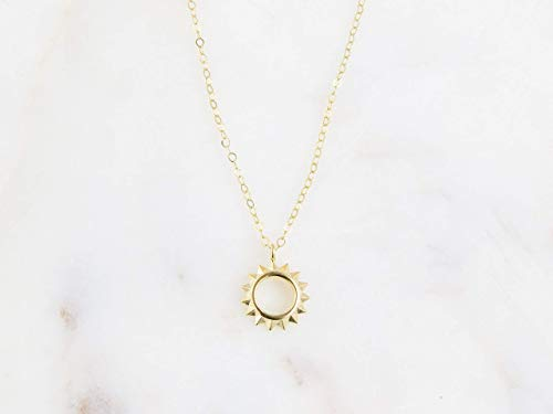 Sun Celestial Charm Pendant Necklace Gift for Her - 16
