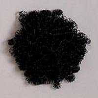 Curly Doll Hair .5oz-Black