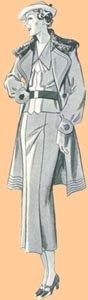 1935 Ladies' Swing Coat Pattern, Size 20