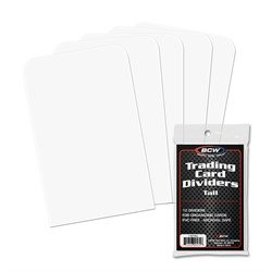 BCW TALL TRADING CARD DIVIDERS