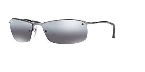 (Ray-Ban RB3183 004/82 63M Gunmetal/Grey Mirror Silver Gradient Polarized Sunglasses For Men)