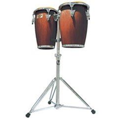 Latin Percussion LP-JRX Aspire Junior Wood Congas-Double Stand, Wine Red (Dw Congas)