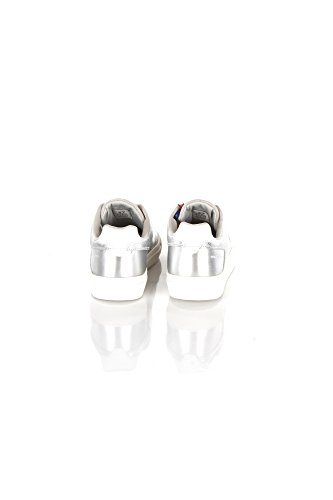 Argento Espadrilles Blanc Brasou Lacets Argent Colmar Blanches Chaussures qBf0Zp