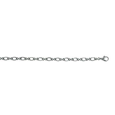 Or blanc 14 carats 11 mm, Bracelet lien-JewelryWeb - 18,4 cm