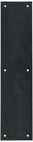 Push Plates Door Accessories (Baldwin 2123 3-1/2 Inch x 15 Inch Solid Brass Square Edge Push Plate, Oil Rubbed Bronze)