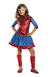 Child Deluxe Spidergirl Costumes (Spider-Girl Costume - X-Small)