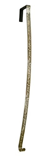 HighProfile Wreath Hanger Holly Embossed Over The Door Hook (Antique Brass) ()