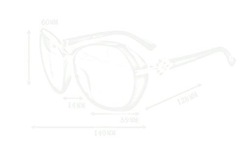 Gafas Mujeres Gafas sol de sol Gafas C Color de B rwABrxq4Y