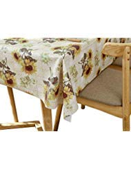 (Lavin PVC Tablecloth/Table Covers,Waterproof Satin Resistant Wipe Clean Heavy Duty for Kitchen and Parties, 54x78 Inch, 137x198 Centimeter (Sunflower))