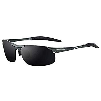 609cc05ce9dd8 Juli Men s Sports Style Polarized Sunglasses for Men Travel Oculos Driving  Golf Unbreakable Alumin Magnesium Metal Frame Glasses  Amazon.in  Beauty