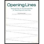 img - for Opening Lines: Approaches to the Scholarship of Teaching and Learning by Carnegie Foundation for the Advancement of Teaching (2000-06-01) book / textbook / text book