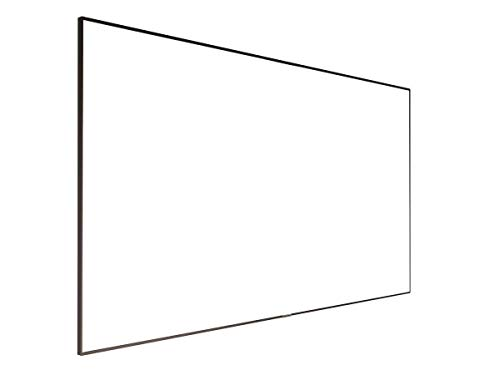 Monoprice 4K Fixed Frame Projection Screen Display - 106 inch | ISF, Ultra HD, 16:9, No Logo Ideal for Home Theater, Business, Movies, Presentations and More