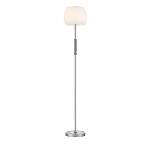 Nickel Matte Floor Lamp - Arnsberg 428991007 Pear LED Floor Lamp with Glass in Nickel-Matte
