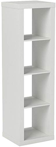 Better Homes and Garden 4-Cube Organizer | Horizontal or Vertical Display, (4-Cube, White) by Better Homes and Garden