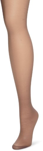Hanes Women's Control Top Reinforced Toe Silk Reflections Panty Hose, Quick Silver, C/D