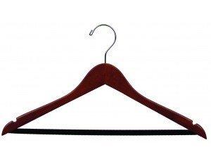 Wooden Hangers velvet Walnut Finish