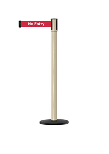 Tensabarrier - 890B-33-100-100-STD-NO-RBX-C - beige post, 2'' wide, 7'6'' length red No Entry belt by Tensabarrier (Image #1)