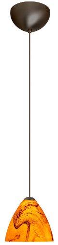 Pendant Mini Habanero Bronze - Besa Lighting 1XC-1779HB-BR Mia Pendant with Habanero Glass, Bronze Finish