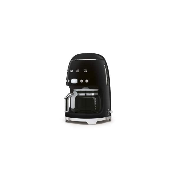 SMEG 1950's Retro Style Coffee Maker Machine (Black) 2