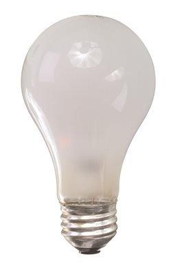 SYLVANIA 13002 INCANDESCENT ROUGH SERVICE LAMP A19, 100 WATT, 120 VOLTS, MEDIUM BASE, INSIDE FROST, 24 PER CASE (1/CS) ()