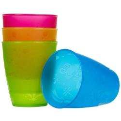 Nuby BPA Free 4 Pack Fun Drinking Cups, 9 Ounce by Nuby