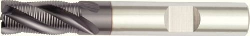 4-Flute WIDIA Products Group 1657938 Weldon WIDIA Hanita 660420007LW 6604 GP Roughing//Finishing End Mill 0.35 mm Chamfer 20 mm Cutting Dia HSS-Cobalt RH Cut TiAlN Coating