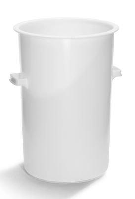 Kunststofftonne - Volumen 110 l, Höhe x Außen-Ø oben 730 x 515 mm ohne Deckel - Kunststoffabfallsammler Kunststofftonne Kunststofftonnen Mülltonne Rundtonne Rundtonnen Tonne Tonnen Kunststoff-Tonne Kunststoff-Tonnen