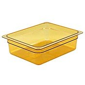 """Cambro 24HP150 High Heat Half Size Food Pan in Amber (Case of 6) 4"""" Deep"""