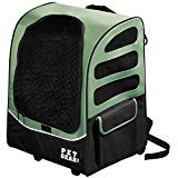 22x17.5x14 Inch Green 5-in-1 I -Go2 Traveler Plus Pet Backpack and Carrier with Wheels, Telescoping Handle Pets Upto 25 Lbs Removable Plush Pad Seat Belt Buckle Backpack Tote Or Rolling Case, Nylon ()