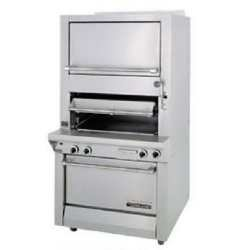 Garland M100XRM Master Series Gas Single Deck Broiler with Finishing Oven & Standard Oven - Broiler Deck